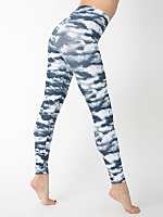 Patterned Polyester Spandex Legging