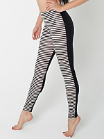 Polyester Spandex Shiny Stripe Two-Sided Legging