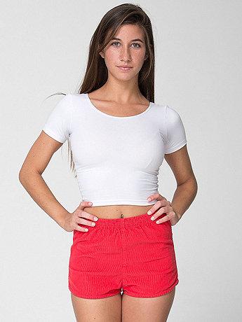 Rigid Corduroy High-Waist Short