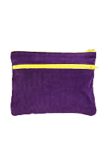 Rigid Corduroy Make-Up Bag