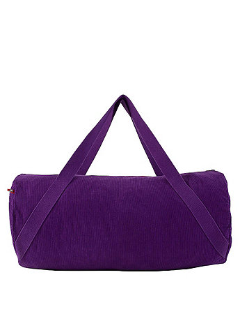Rigid Corduroy Diagonal Strap Gym Bag