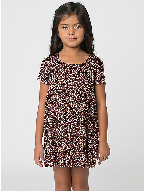 Kids' Printed Rayon Babydoll Dress