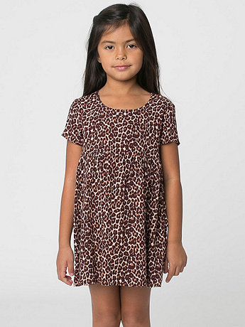 Kids Printed Rayon Babydoll Dress
