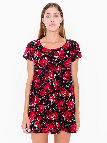Printed Rayon Babydoll Dress