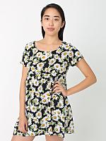 Daisy Printed Rayon Babydoll Dress