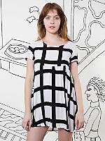 Nathalie Du Pasquier Gaza Print Rayon Babydoll Dress