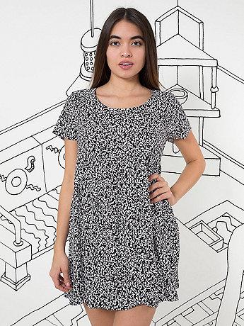 Nathalie Du Pasquier Winie Print Rayon Babydoll Dress