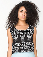 Tribal Rayon Loose Crop Top