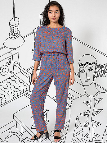 Nathalie Du Pasquier Small Kaya Print Rayon Jumpsuit