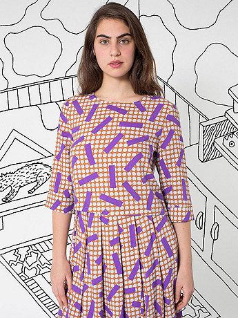 Nathalie Du Pasquier Big Kaya Print Rayon Crop Blouse
