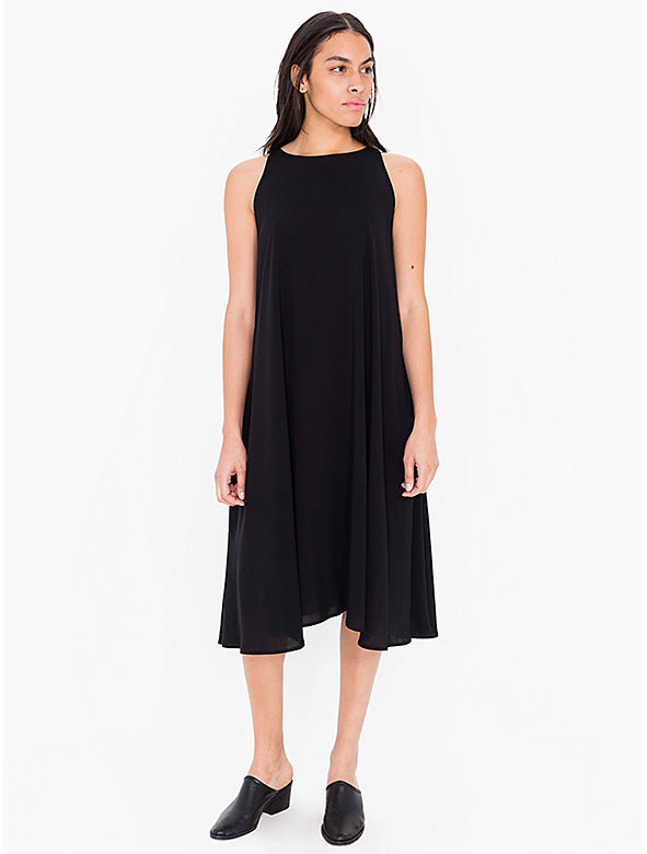 Rayon Sleeveless Tent Midi Dress