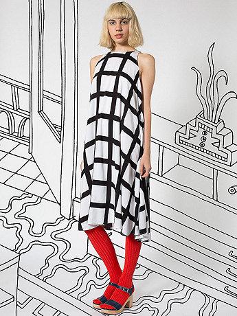 Nathalie Du Pasquier Gaza Print Rayon Tent Dress