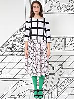 Nathalie Du Pasquier Mama Print Rayon Challis Long Skirt