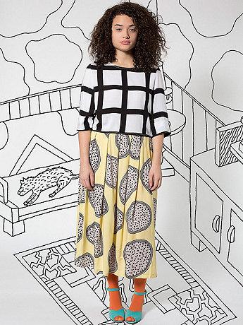 Nathalie Du Pasquier Nina Print Rayon Challis Long Skirt