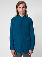 Rayon Long Sleeve Button-Up