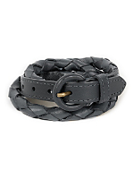 Unisex Leather Rope Belt