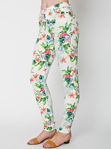 Flamingo Print Pencil Pant