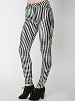Houndstooth Four-Way Stretch Twill Pencil Pant