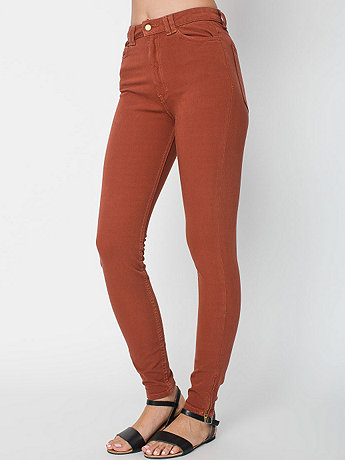 Four-Way Stretch High-Waist Side Zipper Pant