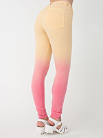 Dip Dye Four-Way Stretch Twill High-Waist Side Zipper Pant