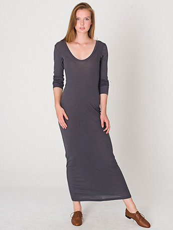 Sheer Rib Long Dress