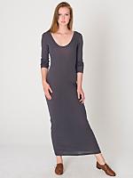 Sheer Rib Long Dress