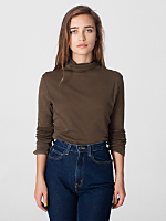 Sheer Rib Long Sleeve Turtleneck