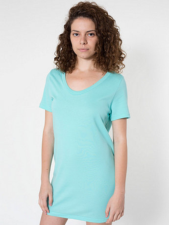 Sheer Rib Short Sleeve Tunique