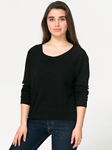 Lightweight Sheer Rib Raglan Pullover