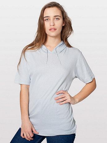 Unisex Sheer Rib Short Sleeve Hoodie T