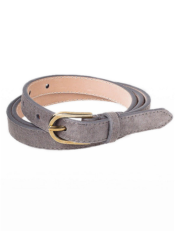 Skinny Suede Belt