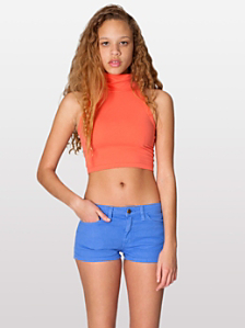 Stretch Bull Denim Short Shorts