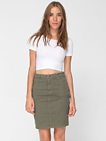 Stretch Bull Denim High-Waist Slim Skirt