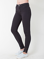 Stretch Bull Denim Side Zip Pant