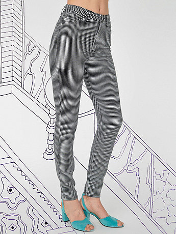 Nathalie Du Pasquier Pia Print Stretch Bull Denim Pencil Pant