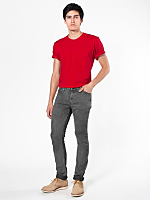 Mineral Wash Stretch Bull Denim Slim Slack