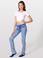 Unisex Mineral Wash Stretch Bull Denim Slim Slack
