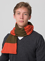Unisex Acrylic Striped Scarf