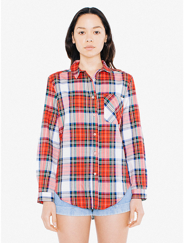 Check Long Sleeve Button Down Shirt