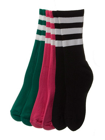 Stripe Calf-High Colored Sock (3-Pack)