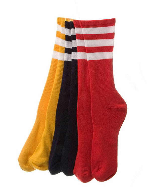 Stripe Calf-High Colored Sock (3-Pack)