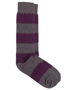 Flat Knit Striped Knee-High Sock