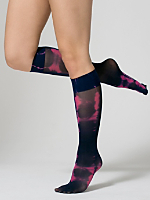 Tie Dye Super Sheer Over-the-Knee Sock