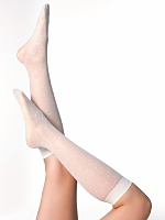 Sheer Calf-High Polka Dot Sock