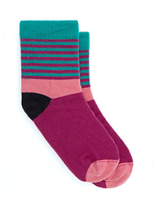 Kids' Calf High Multi-Stripe Sock