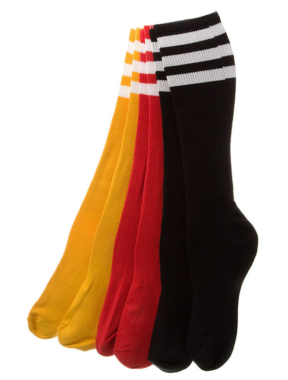 Stripe Knee-High Colored Sock (3 Pieces)