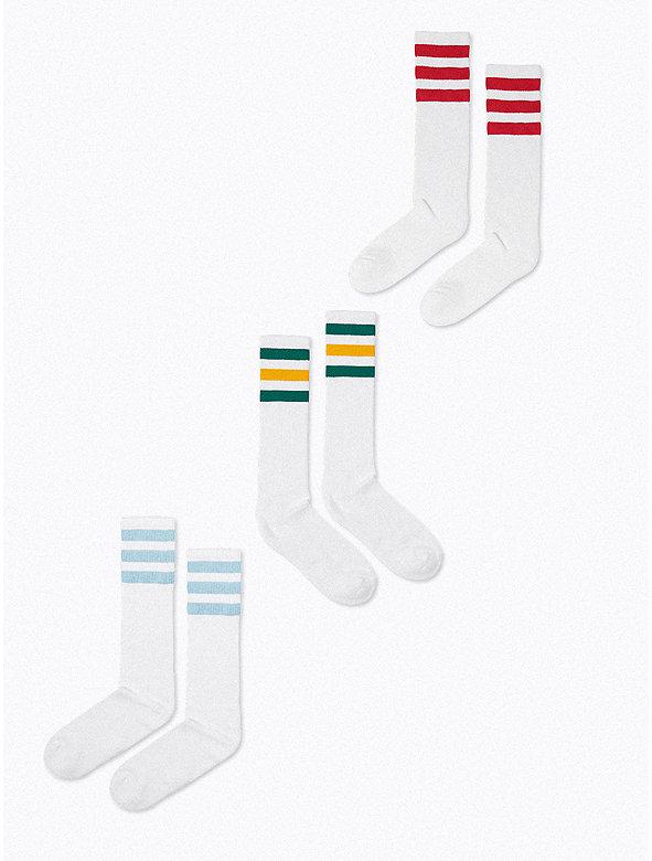 Unisex Stripe Knee-High Sock
