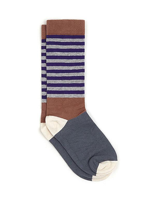 Calf High Multi-Stripe Sock