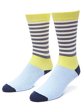 Calf High Multi-Stripe Sock
