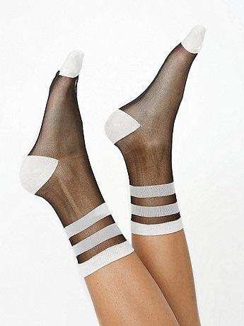 Sheer Patterned Sock